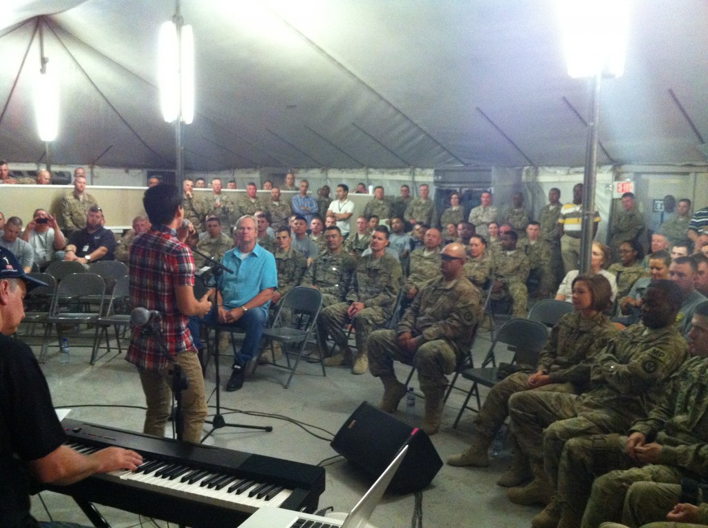 Military Prison Show in Bagram, one of the best shows of the trip!