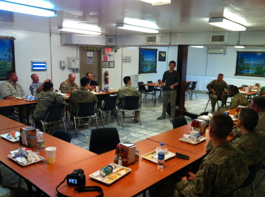 Impromptu Fireside for LDS Branch at Bagram