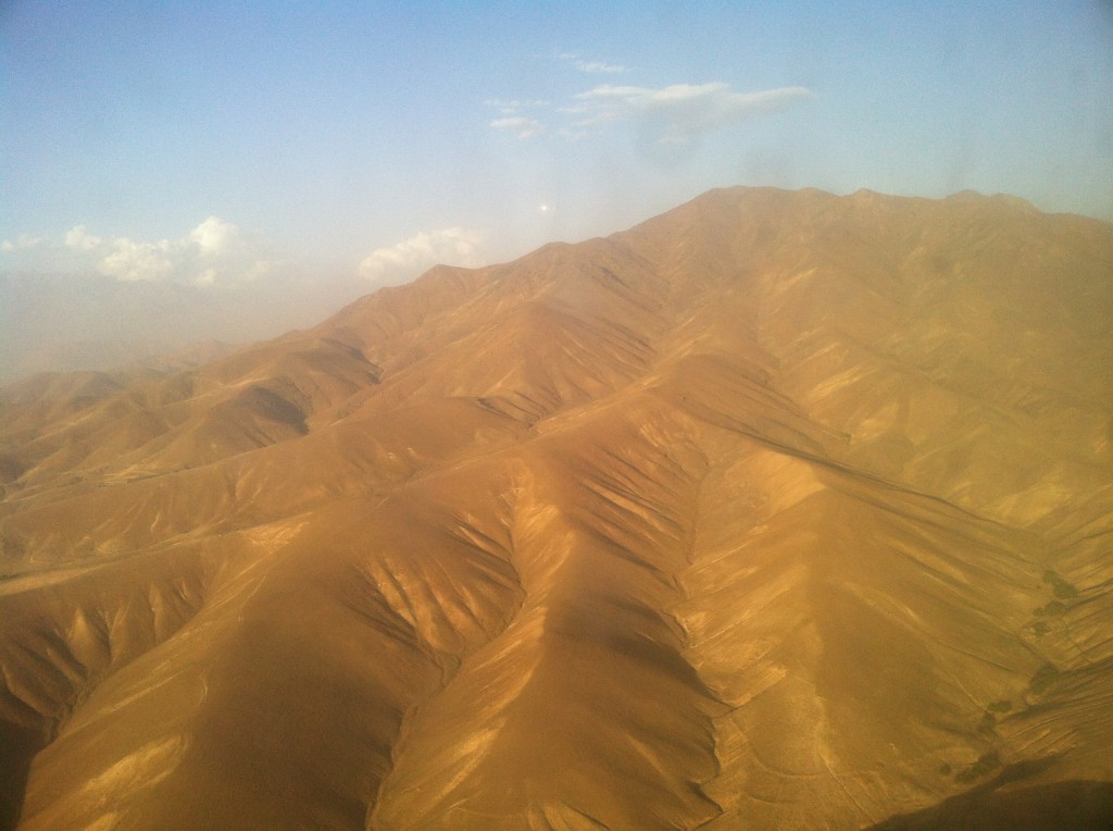 A view of the mountains in Afghanistan and where Osama was hiding out.  Extremely harsh territory. Beautiful nonetheless