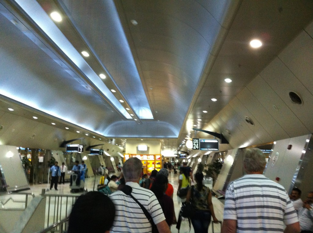Rushing through Kuwait Airport middle of the night