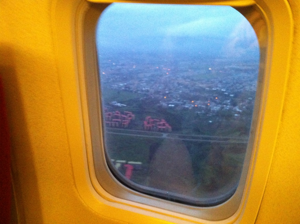 Plane view of Addis Ababa, Africa, my first time to this amazing country