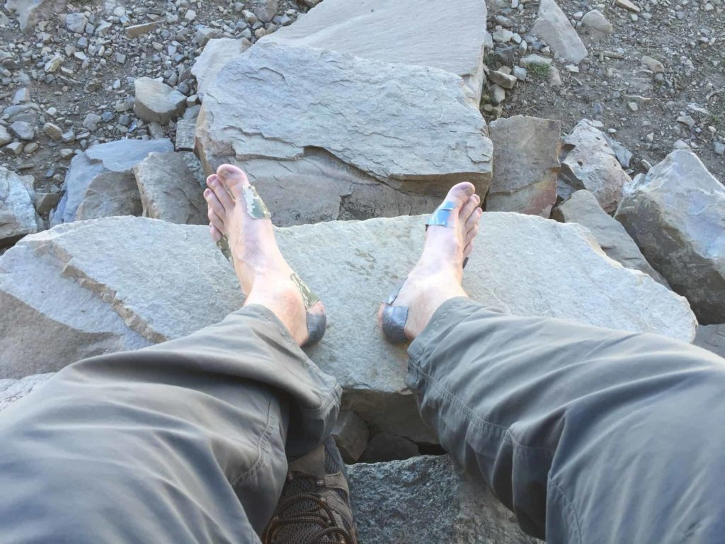 Hiking for me looks like this. It's painful. I wear duct tape for blisters. But oh so worth the hike!