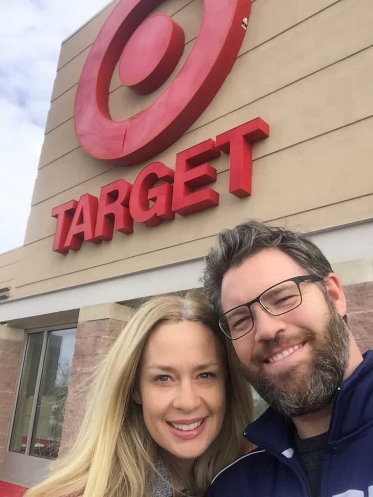 We go to Target together now. Dec. 1, 2016